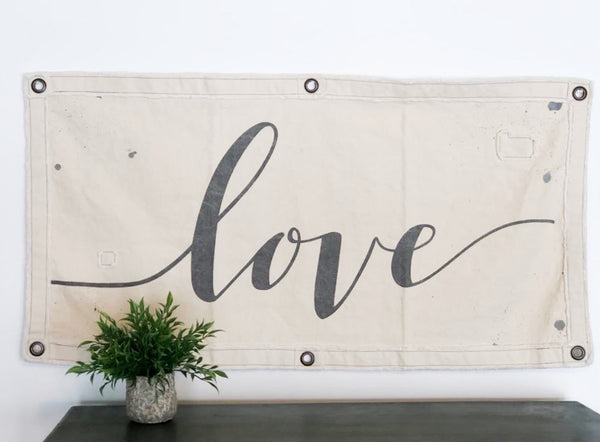 Canvas Wall Banner - Love