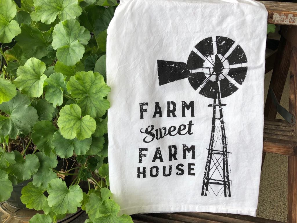Dish Towel - Farm Sweet Farm House