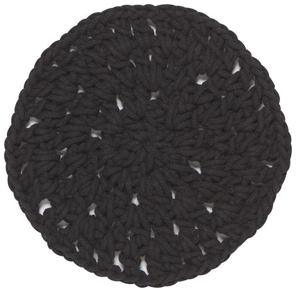 Knitted Trivet - Black