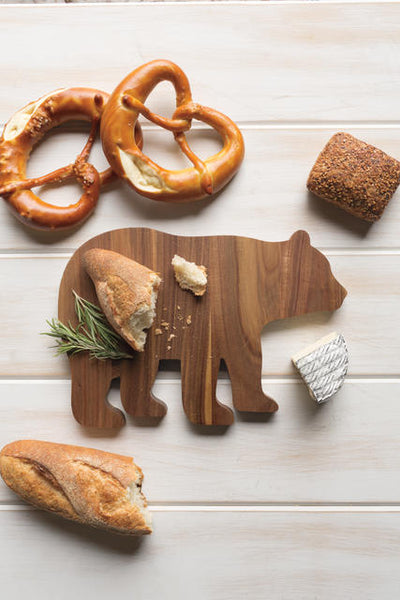 Wood Serving Board Boris the Bear