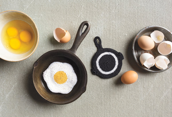 Tawashi Scrubbers - Egg and Skillet