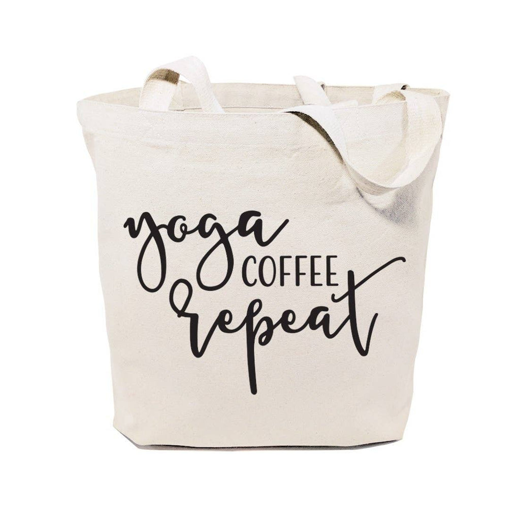 Tote Bag - Yoga Coffee Repeat