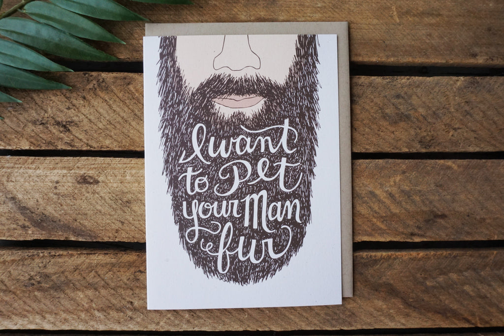 Greeting Card Man Fur
