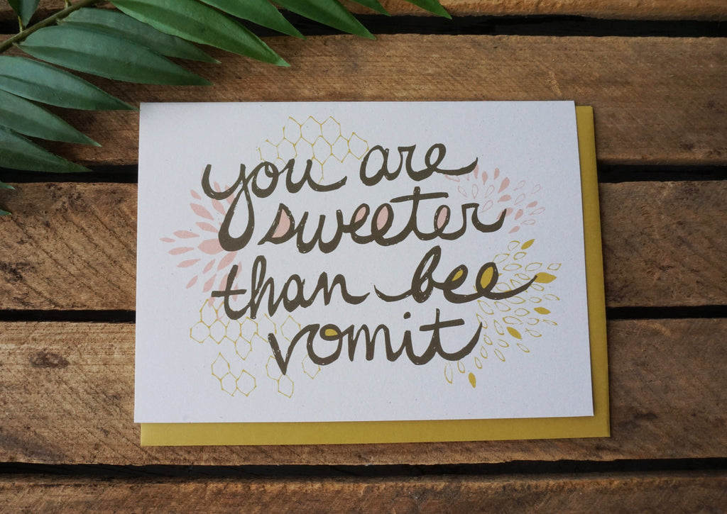 Greeting Card Bee Vomit