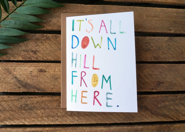 Greeting Card Downhill