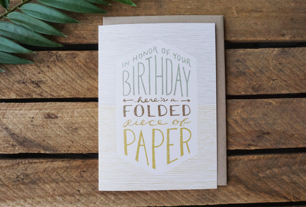 Greeting Card Folded Paper