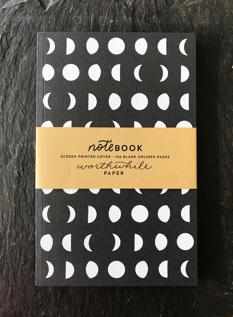 Notebook, Moon Pattern