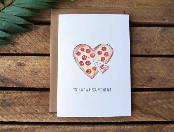 Greeting Card Pizza