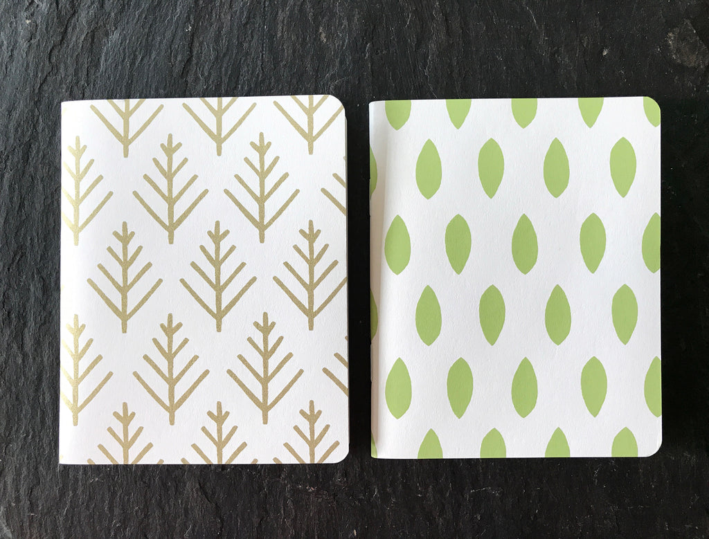 Notebook Pocket Journals Leaf and Branch, Set of 2