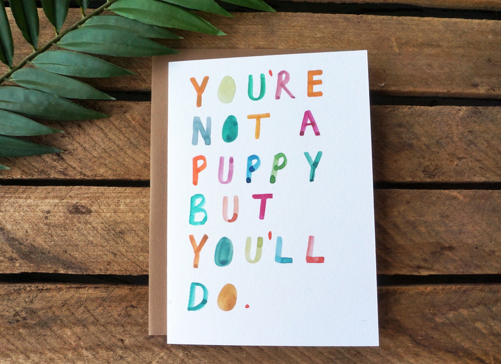 Greeting Card Puppy