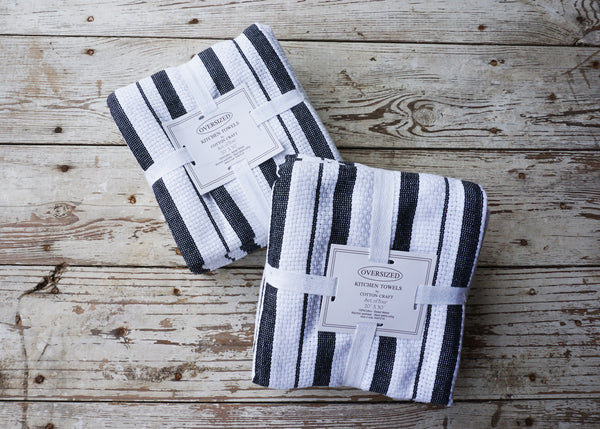 Dish Towel Striped Cotton Kitchen, Set of 4