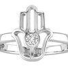 POP .10cts Diamond Hamsa Ring - POP Diamond Jewelry