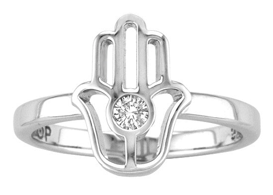 POP .10cts Diamond Hamsa Ring