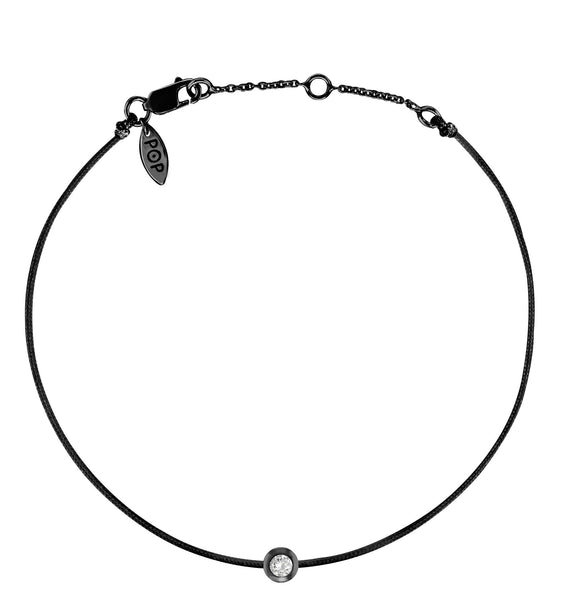 POP .10cts Diamond Bracelet/Anklet - Black/Black Ruthenium