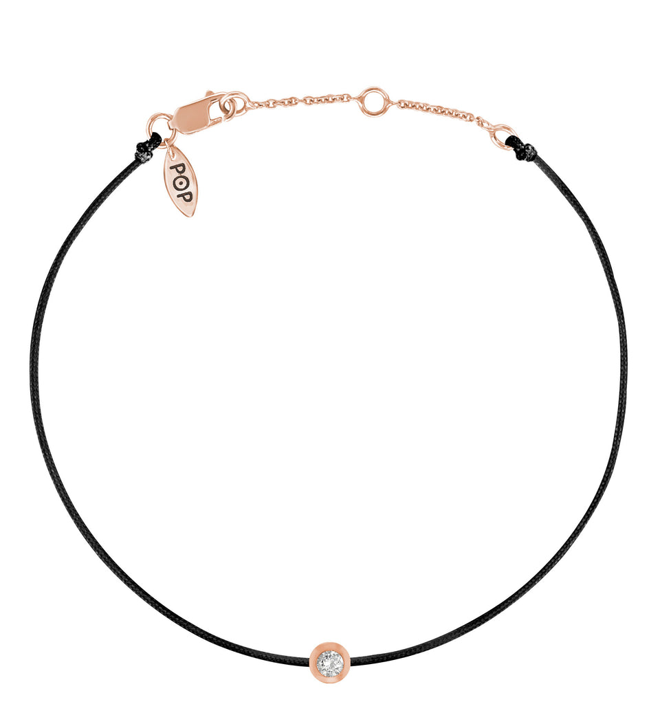 POP .10cts Diamond Bracelet/Anklet - Black/Rose Gold