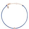 POP .10cts Diamond Bracelet/Anklet - Cobalt Blue/Rose Gold