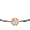 POP .10cts Diamond Bracelet/Anklet - Dark Grey/Rose Gold - POP Diamond Jewelry
