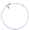 POP .10cts Diamond Bracelet/Anklet - Light Blue/Sterling Silver - POP Diamond Jewelry