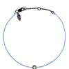 POP .10cts Diamond Bracelet/Anklet - Light Blue/Black Ruthenium - POP Diamond Jewelry