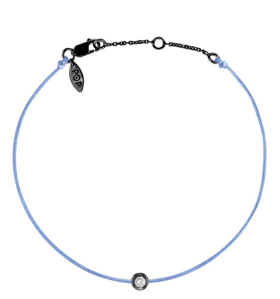 POP .10cts Diamond Bracelet/Anklet - Light Blue/Black Ruthenium