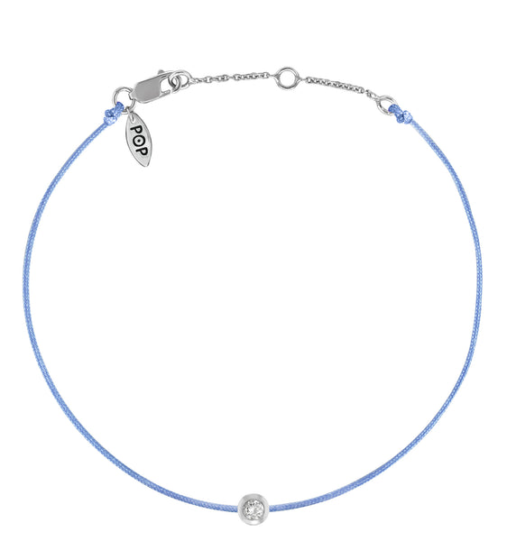 POP .10cts Diamond Bracelet/Anklet - Light Blue/Sterling Silver