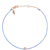 POP .10cts Diamond Bracelet/Anklet - Light Blue/Rose Gold - POP Diamond Jewelry