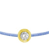 POP .10cts Diamond Bracelet/Anklet - Light Blue/Yellow Gold