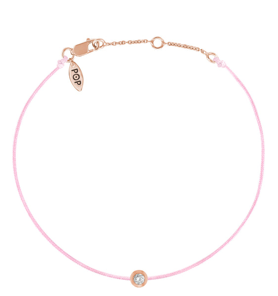 POP .10cts Diamond Bracelet/Anklet - Pink/Rose Gold