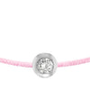 POP .10cts Diamond Bracelet/Anklet - Pink/Sterling Silver - POP Diamond Jewelry
