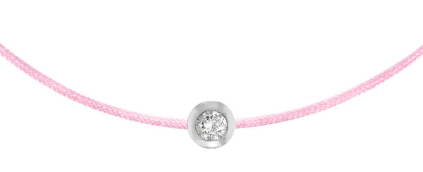 POP .10cts Diamond Bracelet/Anklet - Pink/Sterling Silver