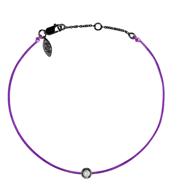POP .10cts Diamond Bracelet/Anklet - Purple/Black Ruthenium