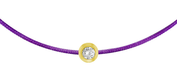 POP .10cts Diamond Bracelet/Anklet - Purple/Yellow Gold