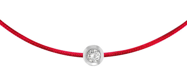 POP .10cts Diamond Bracelet/Anklet - Red/Sterling Silver
