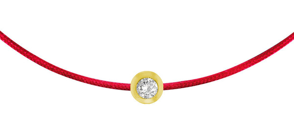 POP .10cts Diamond Bracelet/Anklet - Red/Yellow Gold