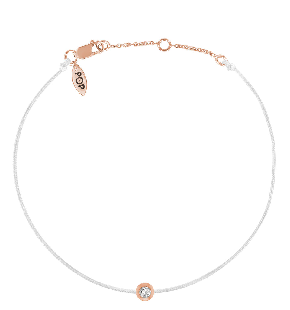 POP .10cts Diamond Bracelet/Anklet - White/Rose Gold