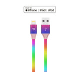 LAX iPhone Charger Lightning Cable - Rainbow MFi Certified Durable Braided Apple Lightning USB Cord for iPhone 11/11 Pro Max/XS Max/X/iPad, iPod & More