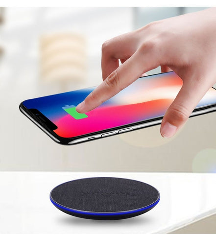 Wireless Charger Fabric Qi Wireless Charger Fast Charging Pad for iPhone Samsung and More