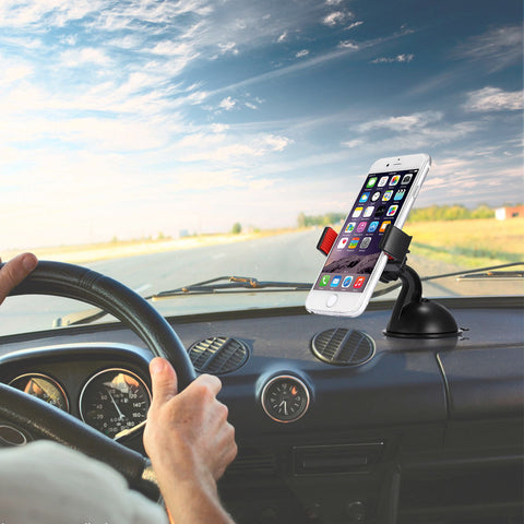 Universal Car Windshield Mount Holder 360 degree Rotation for Mobile Cell Phone GPS