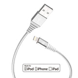 Heavy Duty Braided Nylon Apple MFi Certified Lightning to USB Cable