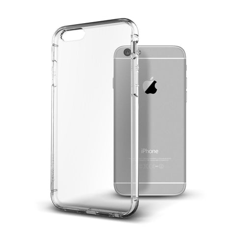 LAX Gadgets Case Protective Clear Scratch-Resistant Cover for iPhone 6 (4.7-Inch) - Retail Packaging - Clear