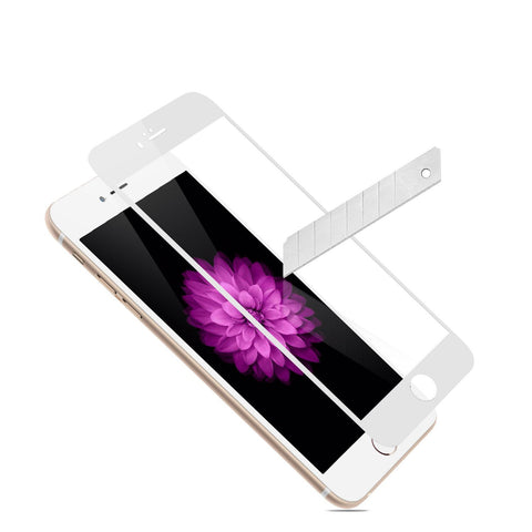 LAX Gadgets Screen Protectors for iPhone 6 Plus - Retail Packaging - White