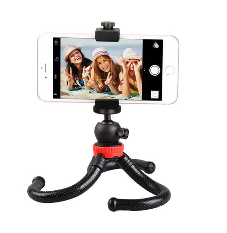 Universal Portable Flexible Tripod Phone holder for Cell Phones GoPro Camcorder