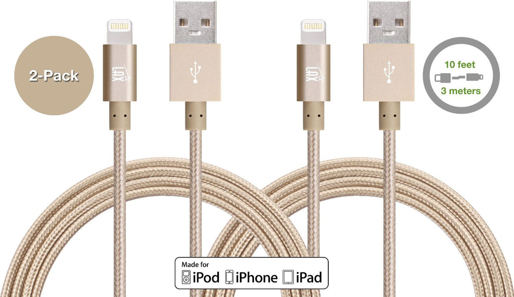 longest iphone charger 2 pack lax 10ft apple mfi certified iphone charger 12595