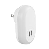 LAX Wall Charger Night Light Dual USB Charger