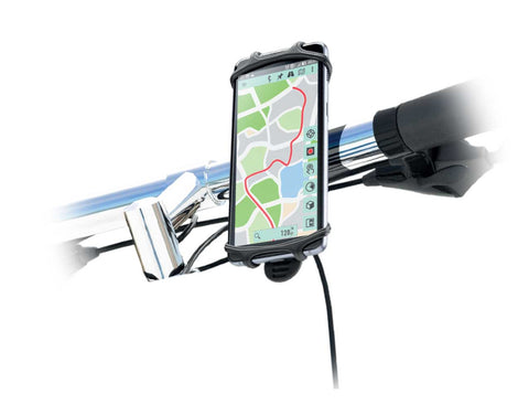 LAX Universal Bicycle Handlebar Mount Soft Silicone Phone Holder for Navigation and Bicycle Computer