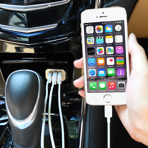 High-Speed 3-Port 5.1 Amp USB Car Charger