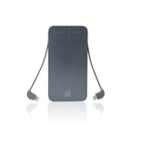 LAX 4000 mAh Slim and Compact Portable Power Bank with Built-in Lightning (Apple MFI Certified) & Micro USB Cables