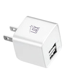 LAX Dual USB Wall Charger - Ultra Compact, Travel Friendly - ETL Listed (cETLus)