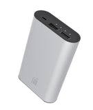 LAX 8000mAh Dual USB Power Bank - Aluminum Finish - Fast 2.1A Charging
