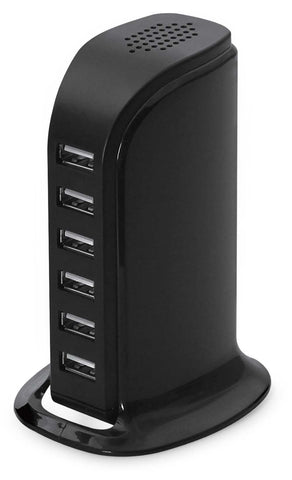 LAX 6-Port USB Desktop Charging Station - UL Listed for Safety